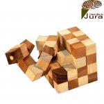 casse tete bois cube elastique