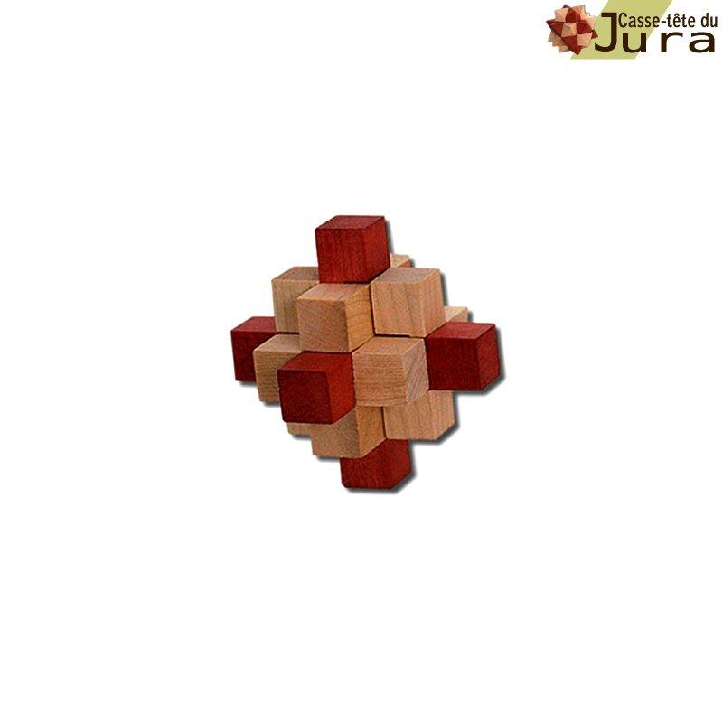 Casse tete en bois cristal 9 pieces
