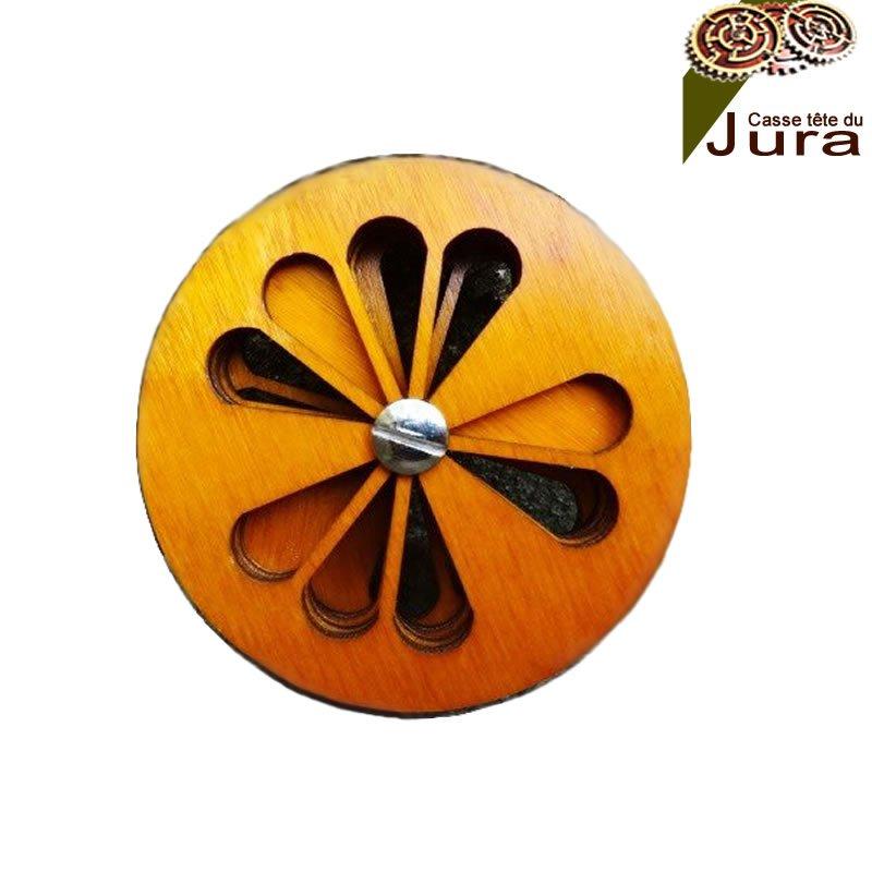 puzzle bois en forme d'orange pour enfant