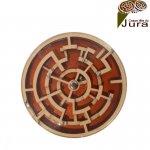 labyrinthe double disque bois