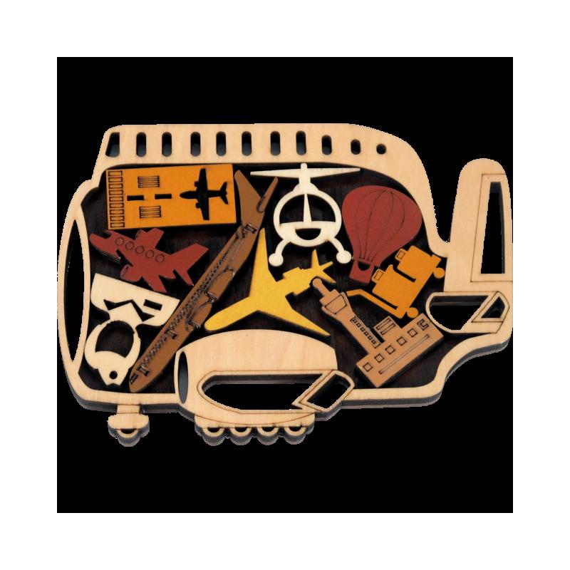 puzzle en bois avion