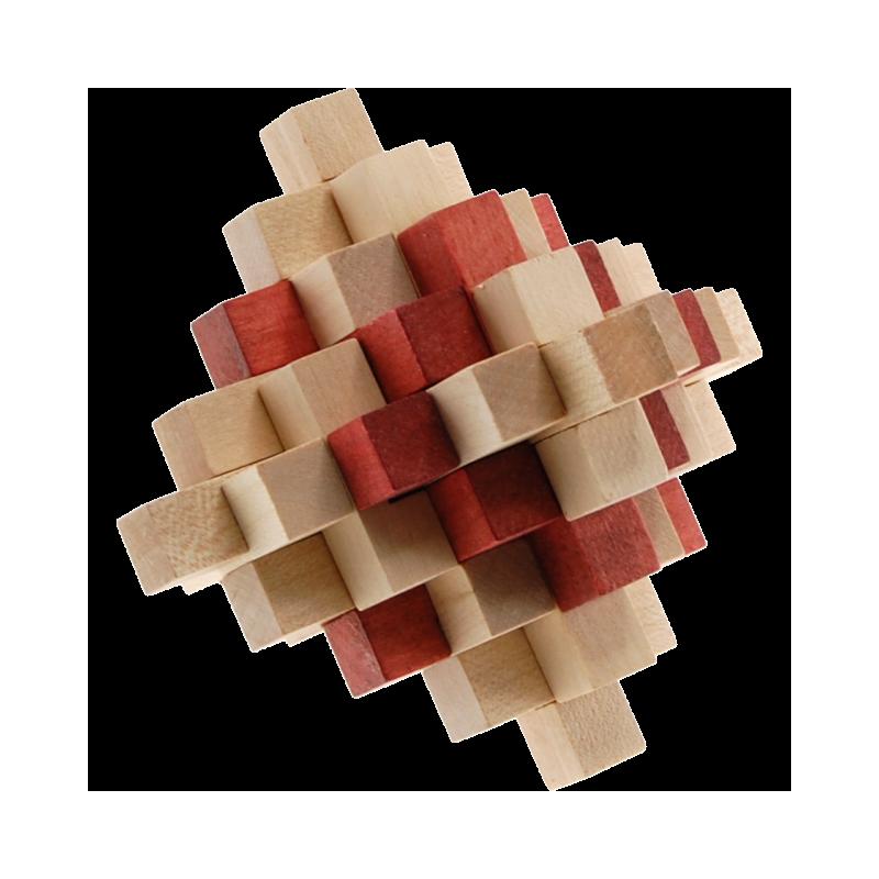 Casse tete en bois cristal 19 pieces
