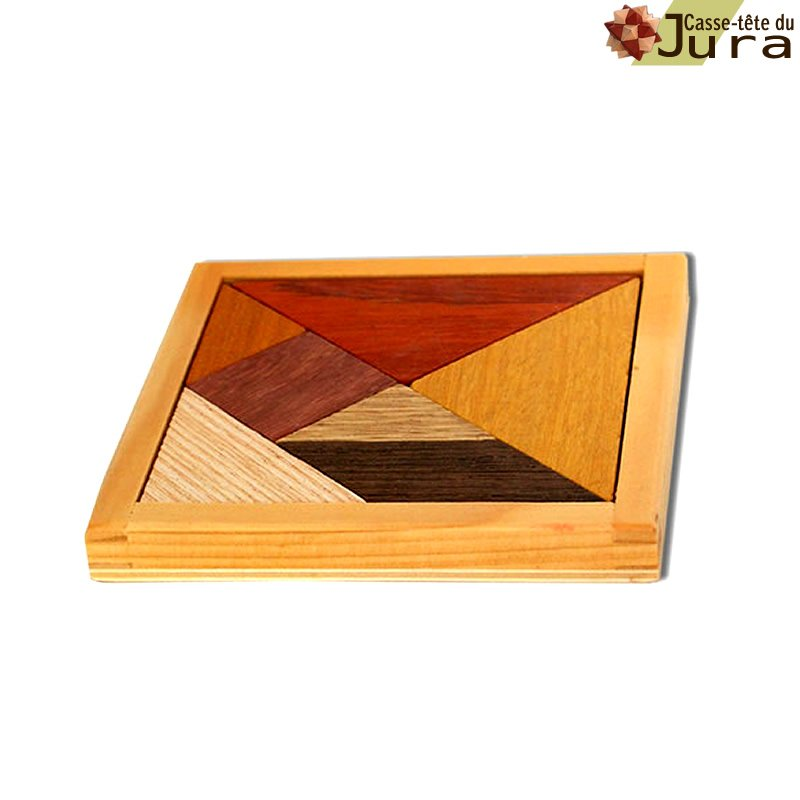 puzzle tangram en bois petit modele fabrication artisanale  francaise Jura