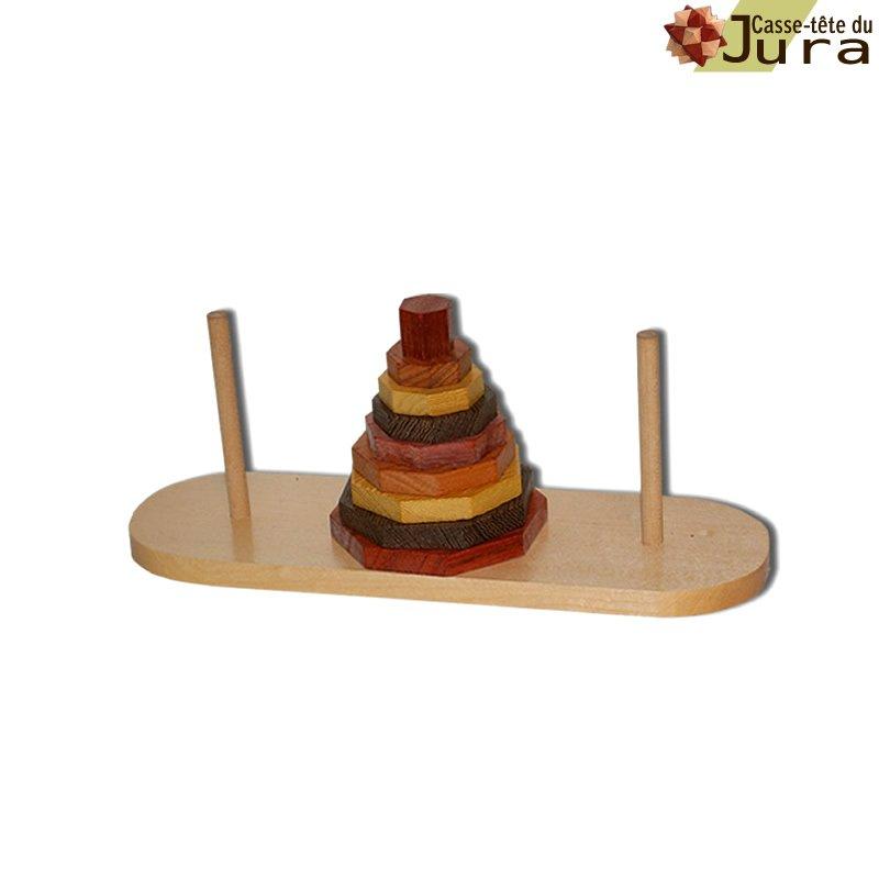 Casse tete en bois tour de Brahma