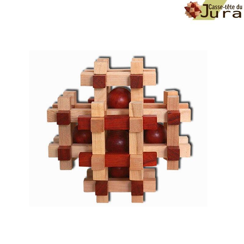 casse tete Multiboules boules et bois casse tete puzzle bois fabrication artisanale France  Jura
