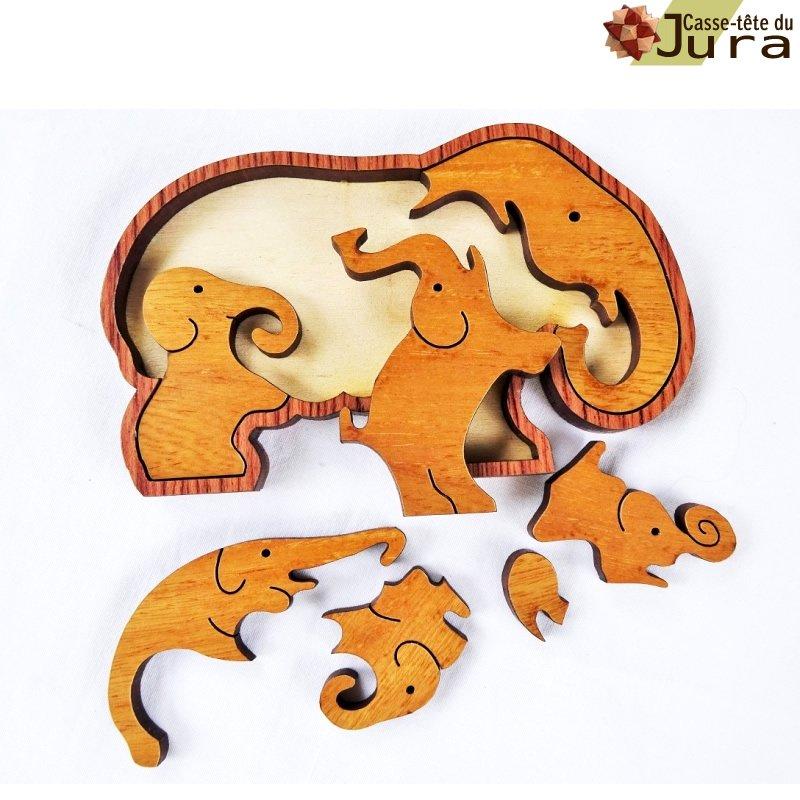 puzzle les elephants