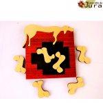 puzzle enfant en bois chien et os